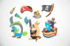Pirates Treasure Hook & Sticker Pack Kitchen Office Bathroom