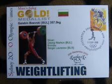 SOUVENIR SYDNEY OLYMPICS GOLD MEDAL COVER - GALABIN BOEVSKI MENS WEIGHTLIFTING