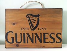 Guinness Handmade Wooden Wall Plaques / Signs Hanging Rustic - Bar Pub gift