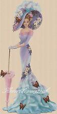 Lady Cross stitch chart  Elegant Lady 156d full length     Flowerpower37-uk