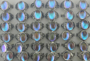 60pcs Newest Women Lady Jewelry Wholesale Mixed Lots Resin Silver Plated Rings