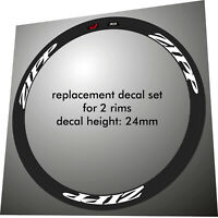 ZIPP 202 2013 STYLE BLACK /& WHITE OUT  REPLACEMENT  RIM DECAL SET FOR 2 RIMS