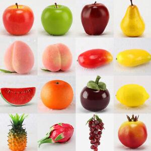 Life like Decorative Plastic Artificial Fake Fruit Vegetables Home Decor Apple