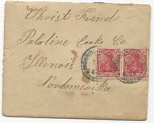 Germany MI #145 Pair on Cover Wurtt CDS December 10, 1928