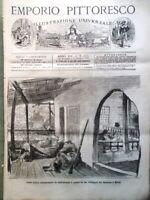 Emporio Pittoresco del 26 Agosto 1877 Esposizione Philadelphia Formichiere Trina