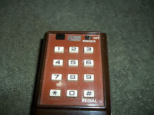 Rare - Vintage 1970s or 80's Itt Push Button Brown Telephone Phone w/ curly cord