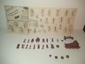 MPC STAR WARS JABBA THE HUTT THRONE ROOM just figures & Instructions