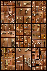 Lot 63 DOOR STOPPERS Hinge Pin Wall Door Floor Mount Ceramic Brass Rubber Tip