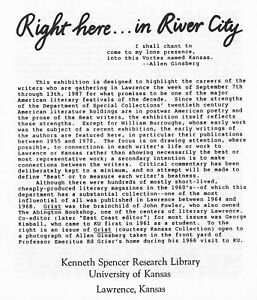 "WILLIAM BURROUGHS ALLEN GINSBERG ""RIGHT HERE IN RIVER CITY"" 1987 EXHIBITION"