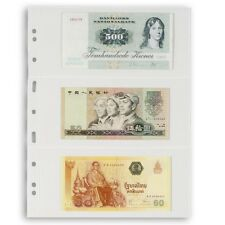 Lighthouse Grande 3 Pockets Banknotes Large Currency Pages 3C 5 Pack Clear USA