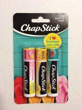 X3 Chapstick Sweet Watermelon, Pink Lemonade I Love Summer Collection Lip balm