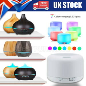 500-550ml Ultrasonic LED Diffuser Aroma Diffuser Steam Electric Cool Mist Remote