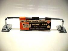 "Vintage Nos Mcm Chrome 12"" Aywon Hand Towel Holder Bar Bathroom Kitchen Trailer"