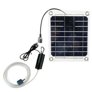 1x Monocrystalline Silicone Fish Tank Oxygen Pump 20W Solar Portable USB F8Z5