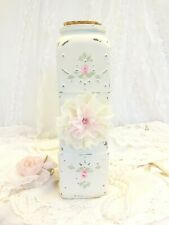 byDAS MOST PRETTY PASTA JAR EVER pink roses hp hand painted chic shabby cottage