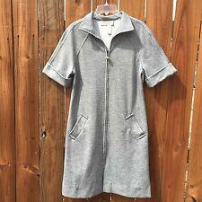 Vtg Fred Rothschild of California Gray Zip-up Dress Women's Size M
