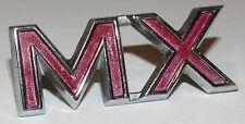 Original Mercury MX Emblem C8GB 16720-C, Vintage Metal 1960s 1970s OEM