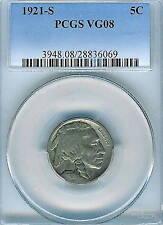 1921-S Buffalo Nickel : PCGS VG08