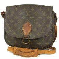 Auth LOUIS VUITTON Vintage M51242 Monogram Saint Cloud GM Shoulder Bag 15645bkac