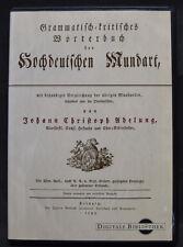 Johann Christoph Adelung - Wörterbuch der Hochdeutschen Mundart - 2001 - CD-ROM