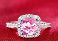 Pink Engagement Fine Diamond Rings