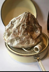 Vintage General Electric Beige Deluxe Hair Dryer Bonnet W/ Case Tested And Works