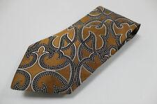 cravatta tie krawatte GIANNI VERSACE fantasia cammello 100% seta silk soie (538)