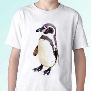 Penguin white t shirt animal tee top design - mens womens kids baby sizes