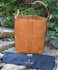 Frye Tan Ilana Western Bucket Rivet Stud Leather Classic Bag Db609