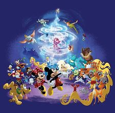 Disney Characters 30x30 Inch Canvas Framed Picture Print