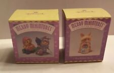 Hallmark Merry Miniatures Easter Mib Lot Of 2: Easter Parade & Blue Ribbon Bunny