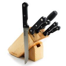 NEW FARBERWARE 7 Piece  CUTLERY SET TOOL BLOCK SET  Chef Steak Paring Knives