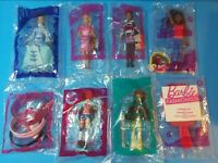 BARBIE ~ Lot of 8 NEW SEALED TOYS ~ 2004-2017 McDonalds Happy Meal Toys
