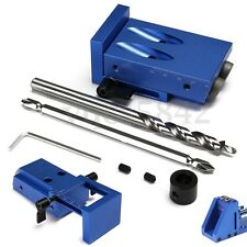 Mini Pocket Hole Jig Kit Kreg Style w/ Step Drilling Bit Woodwork Joint Tool Set
