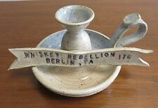 Whiskey Rebellion, Berlin, PA, Wheel Thrown Pottery Candle Holder, Dave Sarver