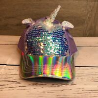 Claires Girls Unicorn Sequin Hat NEW