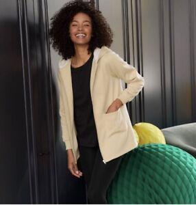 AVON Cream Hooded Lounge Jacket Size Large UK 16-18. New Gift