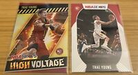 2020-21 Panini NBA Hoops Trae Young (x2) High Voltage & Base - PSA READY!