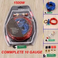 1500W Car Amplifier Wire Wiring Kit 10GA 60 AMP Car Audio Sub/Amp Power Cable UK
