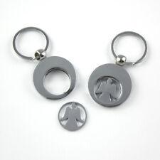 Schlüsselanhänger mit Einkaufschip - Schutzengel Guardian Angel Edelstahl *NEU*