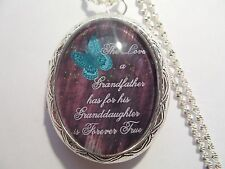 THE LOVE A GRANDFATHER HAS FOR HIS GRANDDAUGHTER IS FOREVER TRUE KEEPSAKE LOCKET