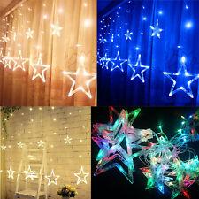 LED Lichterkette Stern LichterVorhang Fenster Baum Weihnachtsdeko Flash Lichter