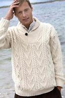 Sailing Sea Sweater Mens Clothing Merino Wool S M L XL XXL Shawl Collar North