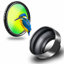 Phot-R 67mm Slim Variable ND Filter + Collapsible 3-in-1 Rubber Lens Hood Kit
