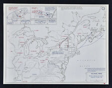 West Point Map French & Indian War Battle of Monogahela Louisbourg Colonial 1758