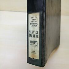 New Listingmassey Ferguson Mf 70 80 Backhoe Loader Repair Shop Service Manual Overhaul Book