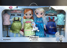 "NIB DISNEY Store ANIMATORS Collection ANNA & and ELSA Doll  GIFT SET 16"" FROZEN"