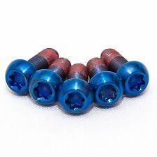 5x Bmw S1000RR Blue Titanium Rear Disc Rotor Bolts With Thread-lock