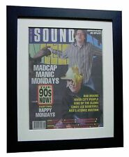HAPPY MONDAYS+POSTER+AD+FRAMED+OFFICIAL+SOUNDS+ORIGINAL 1989+EXPRESS GLOBAL SHIP
