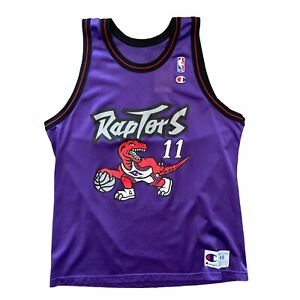 RARE Vintage Champion Brand  Isiah Thomas Raptors Dino Jersey Size 48 🔥💯